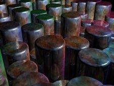 Free Lots Of Colorful Fatasy Cylinders Royalty Free Stock Photos - 6428898