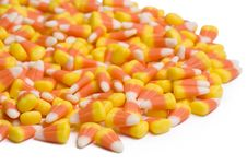 Candy Corn On White Royalty Free Stock Image