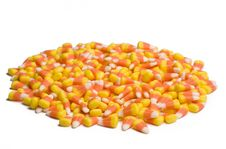 Candy Corn On White Royalty Free Stock Photos