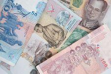 Free Thai Baht Notes Macro 6 Royalty Free Stock Photography - 6429237