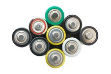 Free Group Of Batteries Royalty Free Stock Photos - 6429358