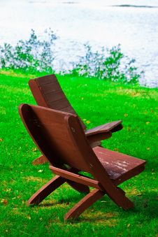 Free Beach Chairs On A Clean, Sunny Beach. Royalty Free Stock Image - 6429416