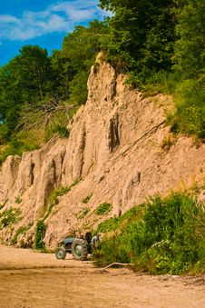 Cliffs At A Beach Royalty Free Stock Photography