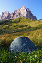 Free Landscape With The Tent Stock Image - 6435261