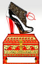 Free Fancy Boot On Jewelery Box Stock Photography - 6436572