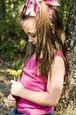 Free Admiring My Flower Stock Image - 6437171