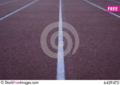 Free Athletic Stadium Running Track Stock Photo - 6439470