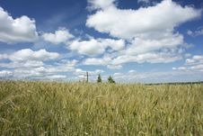 Free Landscape With A Cross Stock Image - 6430181