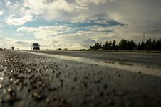 Free Highway After Rain In Lithuania Stock Photos - 6430223