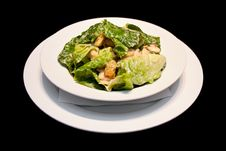 Caesar Salad With Shrimps Royalty Free Stock Image