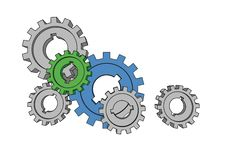 Free Isolated Cogwheels Royalty Free Stock Photos - 6430498