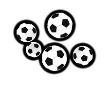 Free Isolated Soccer Balls Royalty Free Stock Image - 6430506