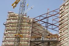 Free Crane At A House Over Construction Stock Images - 6430704