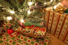 Free Presents Under The Christmas Tree Stock Image - 6430861