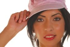 Free Young Latino Woman With A Hat Stock Photos - 6430903