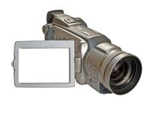 Digital Camcorder Isolated On White Royalty Free Stock Image