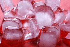 Free Red Ice Cubes Royalty Free Stock Image - 6431156