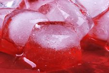 Free Red Ice Cubes Stock Image - 6431181