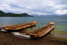 Free Lake And Boat Royalty Free Stock Image - 6431226