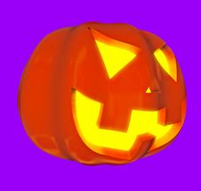 Free Jack-o -lanterns 3d Stock Photography - 6431252