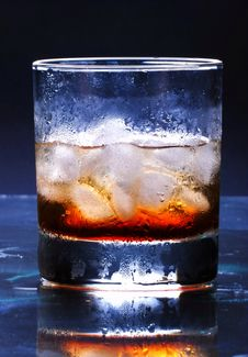 Drink With Ice Cube Stock Images