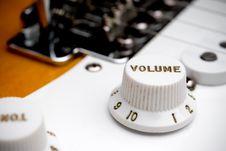 Free Guitar Volume Control Royalty Free Stock Photos - 6431588