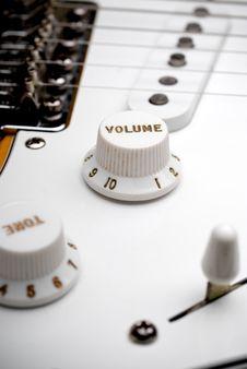 Free Guitar Volume Control Royalty Free Stock Photos - 6431618