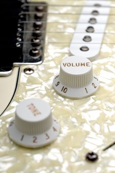 Free Guitar Volume Control Stock Image - 6431661