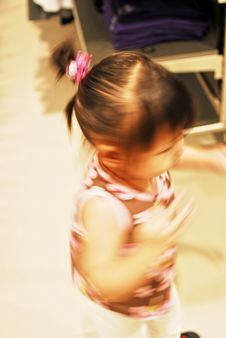 Chinese Child Was Dancing Royalty Free Stock Photo