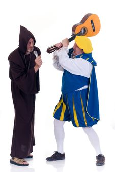 Free Halloween, Funny Monk Angry Prince Stock Photography - 6432622