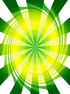 Free Abstract Swirl Green Yellow Background Royalty Free Stock Images - 6432719