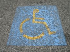 Free Wheelchair Parking Sign Stock Images - 6433024