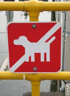 No Dog Sign Royalty Free Stock Image