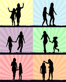 Free Mother And Daughter - Fun Royalty Free Stock Photo - 6433605
