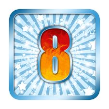 Alphabet Celebration Numbers 8 Eight Royalty Free Stock Images