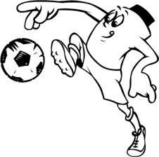 Free Football Figure Stock Photography - 6434062