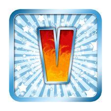 Free Alphabet Celebration Letters V Stock Image - 6434181