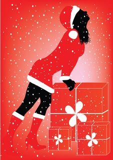 Free Christmas  Girl Royalty Free Stock Photography - 6434577