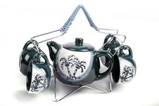 Teapot And Cups Stock Photo
