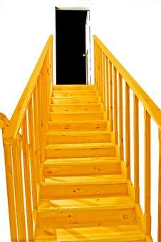 Yellow Ladder Stock Image
