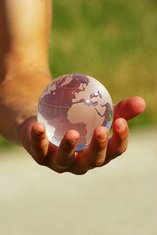 Free Globe In  Hand Stock Photos - 6434813