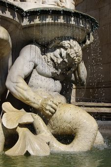 Free Architectural Detail Of Fountain. Vienna, Austria Stock Image - 6434911
