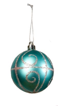 Free Blue Christmas Ball Stock Photo - 6435200