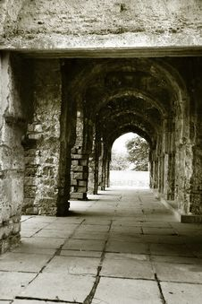 Walk Way In Quli Qutb Shahi Tombs Royalty Free Stock Images