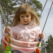 Free Girl On Swing Royalty Free Stock Images - 6435689