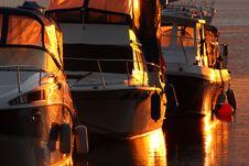 Free Boats At Sunrise Royalty Free Stock Photography - 6435847