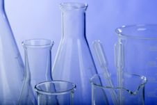 Free Glassware In Laboratory Royalty Free Stock Photography - 6436097