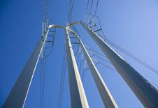 White Power Pole Tower Royalty Free Stock Photos
