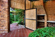 Free Reed Door Into Garden Stock Image - 6437361