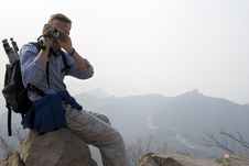 Free Atop The Great Wall Royalty Free Stock Image - 6437586